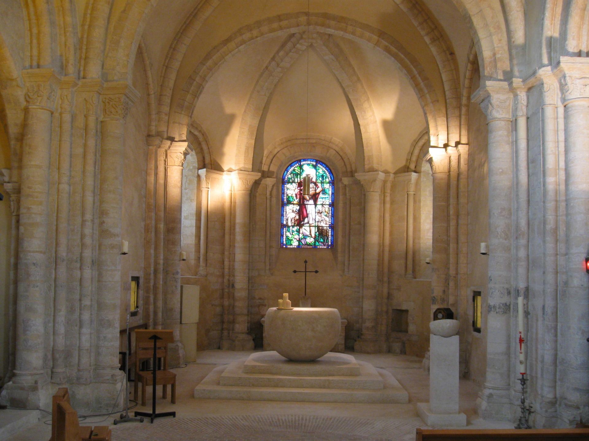Le chœur de l'église de Marolles-en-Brie