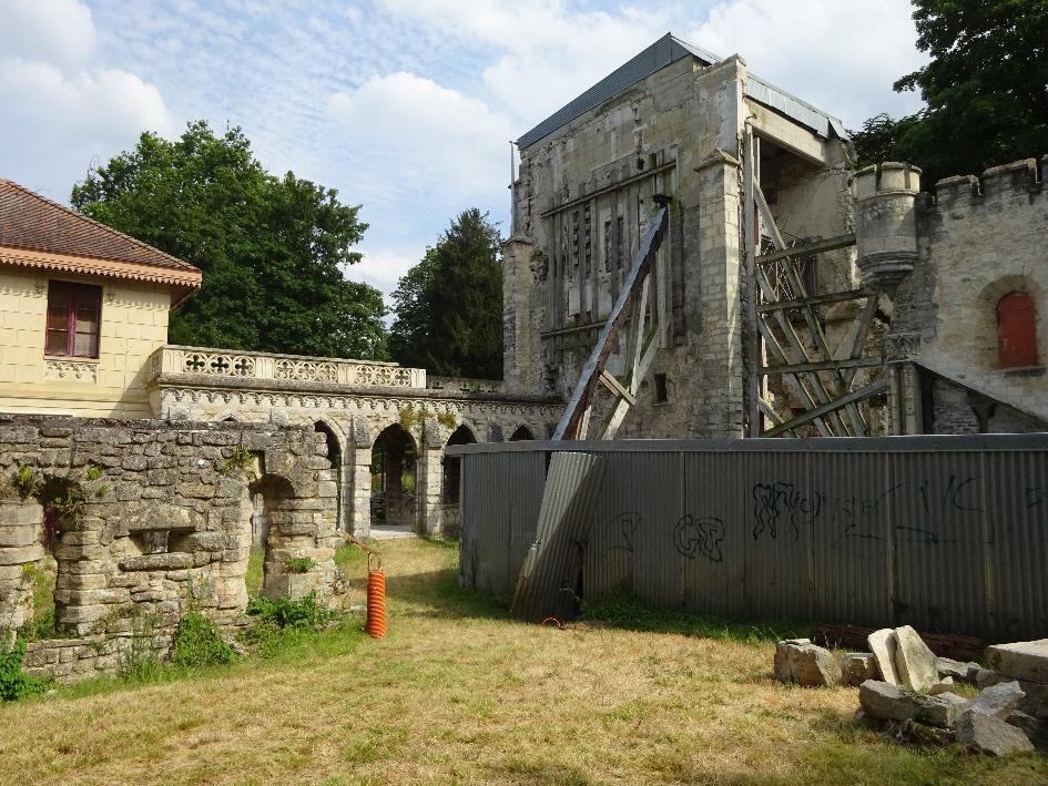 Le site de l'ancienne abbaye de Saint-Maur